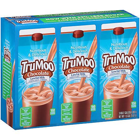 TruMoo Chocolate Lowfat Milk - 0.5 gal. - 3 pk.