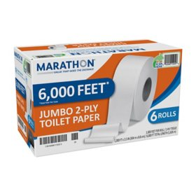 Marathon Bath Tissue, 2-Ply (6 Jumbo Rolls)