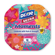 "Dixie Ultra Moments 10"" Paper Plates (3pk 18ct.)"