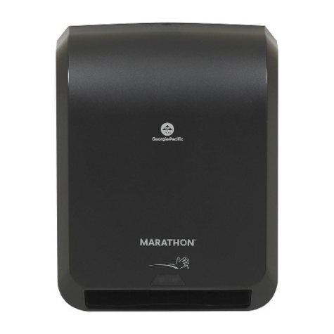 """Marathon® Automated Paper Towel Dispenser, Black, 16.100"""" W x 8.900"""" D x 12.900"""" H"""