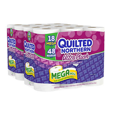 Quilted Northern Ultra Plush Bathroom Tissue 3 Ply 235 Sheets 36