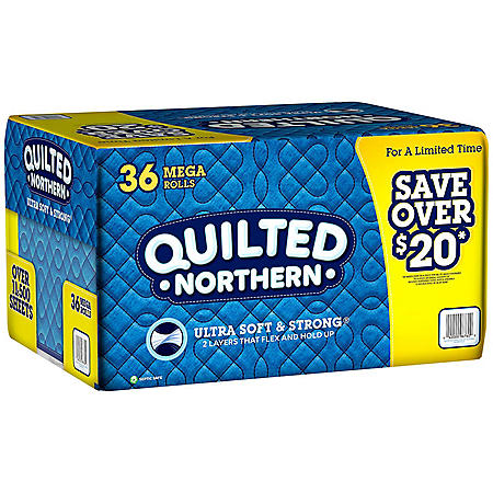 Quilted Northern Ultra Soft & Strong Toilet Paper (36 rolls, 328 sheets/roll)