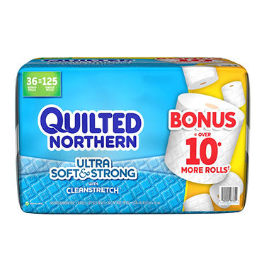 Quilted Northern Ultra Soft & Strong Bathroom Tissue Bonus Pack (268 sheets, 36 rolls)