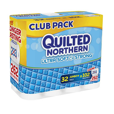 Quilted Northern Ultra Soft & Strong 2-ply Bathroom Tissue (32 jumbo rolls, 262 sheets per roll)