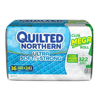 Quilted Northern Ultra Soft & Strong 2-Ply Toilet, (322 sheets, 36 rolls)