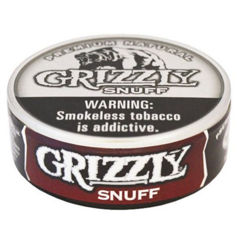 Grizzly Snuff (5 cans, 1.2 oz. each)