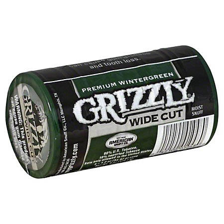 Grizzly Wide Cut Wintergreen Tobacco (1.2 oz. can, 5 ct.)