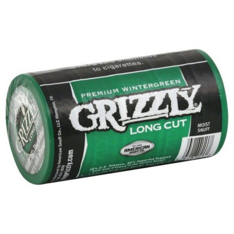 Grizzly Wintergreen Long Cut Tobacco $1 Off Per Can (5 cans)