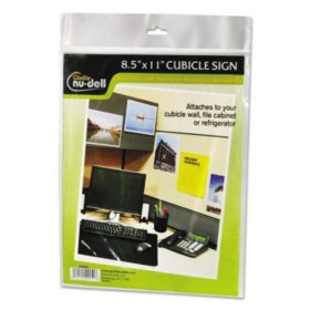 Nu-Dell Clear Plastic Sign Holder, All-Purpose -  8 1/2 x 11