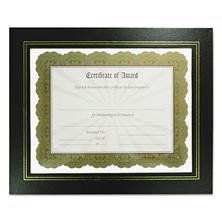 nudell leatherette document frame 812 x 11 black