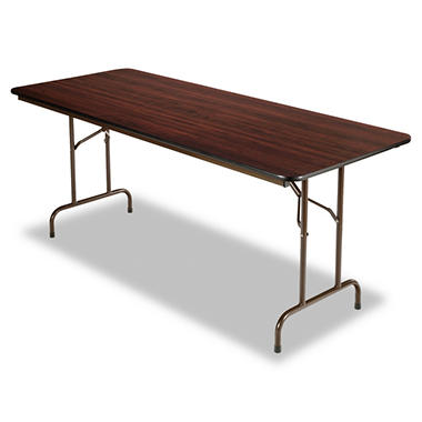 "Retractable Tables alera 72"" x 30"" melamine folding table, walnut - sam's club"