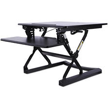 "Alera 26"" Sit-to-Stand Lifting Workspace, Black"
