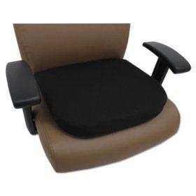 Alera Cooling Gel Memory Foam Seat Cushion, Black