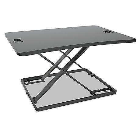 "Alera AdaptivErgo Ultra-Slim Sit-Stand Desk, 31 1/3"" x 22"" x 15 3/4"", Black"