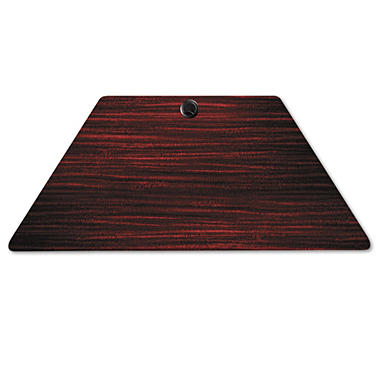 "Alera Valencia Series 47 ¼"" Training Trapezoid Table Top, Mahogany"