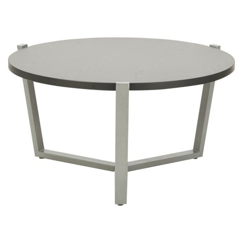 Alera Round Occasional Coffee Table, Black/Silver