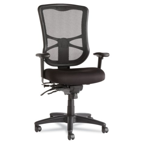 Alera Elusion Series High-Back Mesh Multifunction Chair, Black
