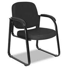 Alera Reception Lounge Series Sled Base Guest Chair, Black