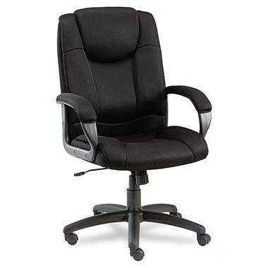 Alera Logan Series Mesh High Back Swivel/Tilt Chair, Black