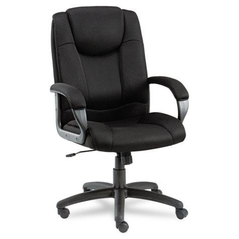 Alera Logan Series Mesh High-Back Swivel/Tilt Chair, Black