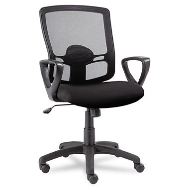 Alera Etros Series Mid-Back Mesh Swivel/Tilt Chair, Black