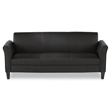 Alera 3-Cushion Reception Lounge Sofa, Black