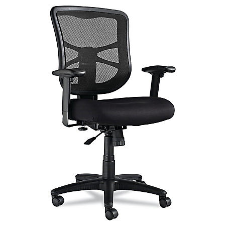 Alera Elusion Series Mesh Mid-Back Swivel/Tilt Chair, Black