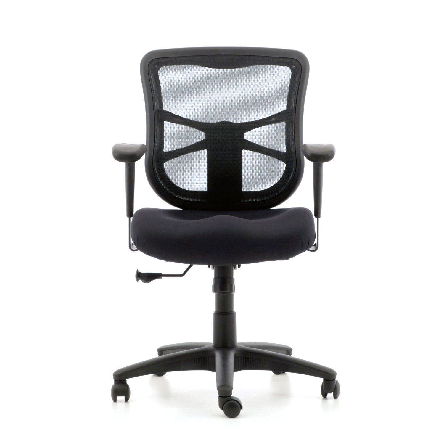 alera elusion series mesh mid back swivel tilt chair black