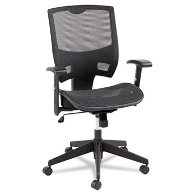 Alera Epoch Series Mid-Back Mesh Multifunction Chair, Black