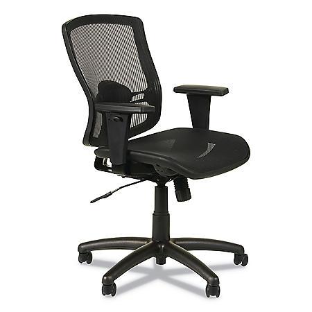 Alera Etros Series Suspension Mesh Mid-Back Synchro Tilt Chair, Black