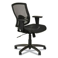 Alera Etros Series Suspension Mesh Mid-Back Synchro Tilt Chair, Black