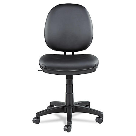 Alera Interval Series Swivel/Tilt  Leather Task Chair, Black