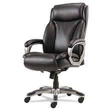 Alera Veon Series Executive High-Back Leather Chair, Black