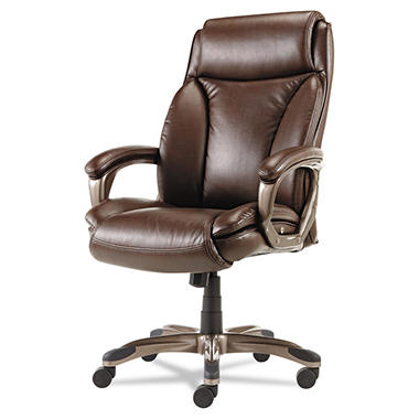 OFFLINE - Alera Veon Series Executive High-Back Leather Chair, Brown