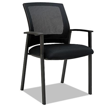 Alera ES Series Mesh Stack Chairs, Black - 2 pack