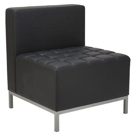 Alera QUB Series Armless L-Sectional, Black