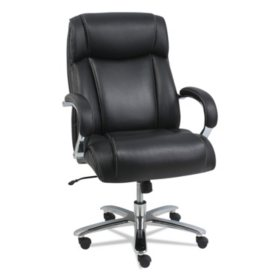 Alera Maxxis Series Big & Tall Leather Office Chair, Black
