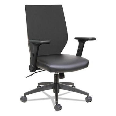 Alera EB-T Series Syncho Mid-Back Flip-Arm Chair, Select Color