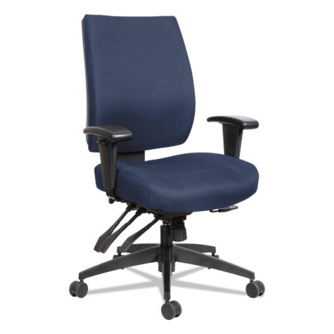 Alera Wrigley Series High Performance Mid-Back Multifunction Task Chair, Blue