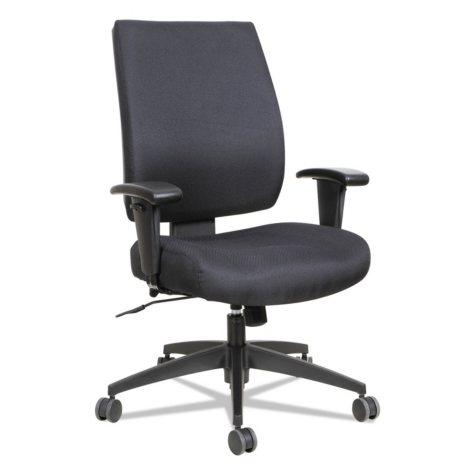 Alera Wrigley Series High Performance Mid-Back Synchro-Tilt Task Chair, Black