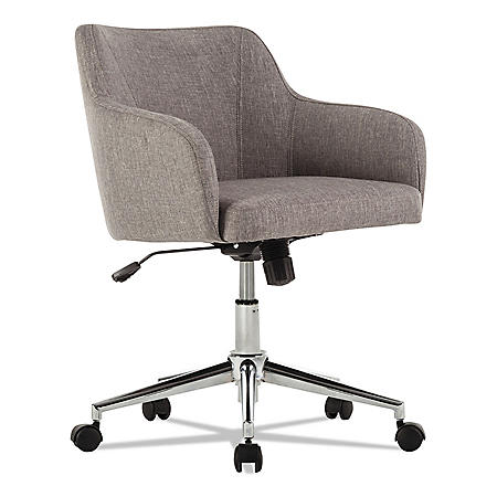 Alera Alera Captain Series Mid-Back Chair, Gray Tweed