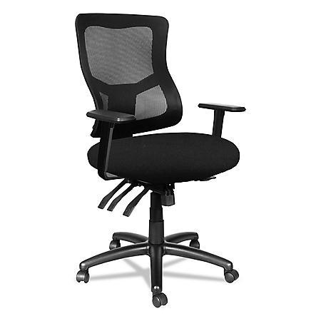 Alera Alera Elusion II Series Mesh Mid-Back Multi-Function w/Seat Slide Chair, Black