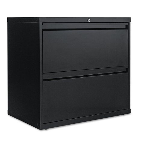 "Alera 30"" 2-Drawer Lateral File Cabinet, Black"