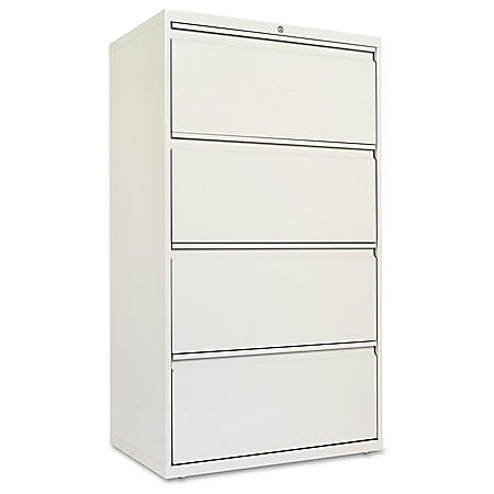 "Alera 30"" 4-Drawer Lateral File Cabinet, Select Color"