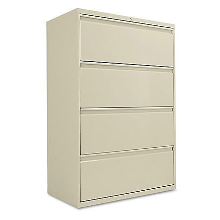 "Alera 36"" 4-Drawer Lateral File Cabinet, Select Color"