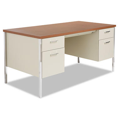 alera 60 double pedestal metal desk select color sam s club