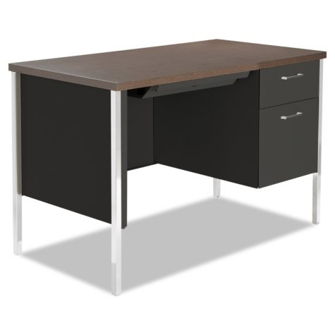 Alera Right Pedestal Steel Desk, Select Color