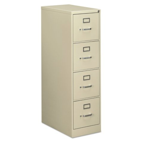 "OIF 4-Drawer Vertical Economy File Cabinet, Putty (Letter, 26-1/2"" Depth)"