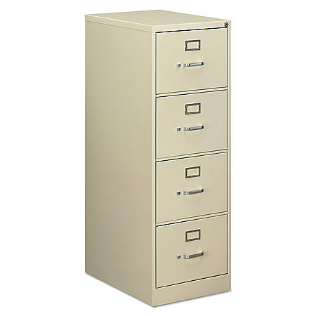 "Alera Four-Drawer Economy Vertical File Cabinet, Legal, 18¼""W x 25""D x 52""H (Assorted Colors)"