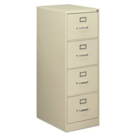 "OIF 4-Drawer Vertical Economy File Cabinet, Putty  (Legal, 26-1/2"" Depth)"